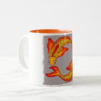 Caneca da arte do zodíaco dos peixes dos peixes