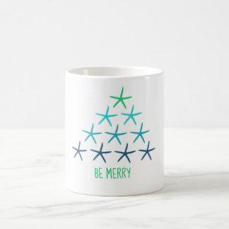 Caneca da árvore de Natal da estrela do mar