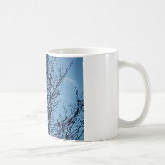 Caneca da árvore do céu azul