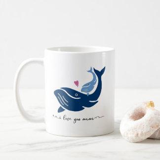 Caneca De Café Caneca da baleia, eu te amo mama, caneca de café