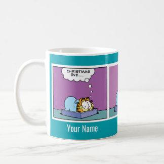 """Caneca da banda desenhada de Garfield da """"Noite de"""