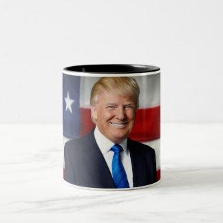 Caneca da bandeira americana de Donald Trump