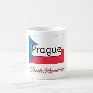 Caneca da bandeira da república checa de Praga