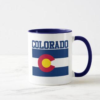 Caneca da bandeira do estado de Colorado