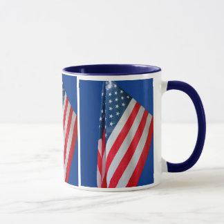 Caneca da bandeira dos Estados Unidos da América