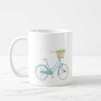 Caneca da bicicleta da aguarela