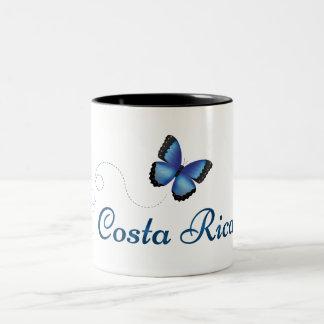 Caneca da borboleta de Costa Rica Morpho