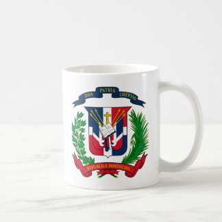 Caneca da brasão da República Dominicana
