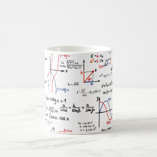 Caneca da cábula da matemática