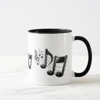 Caneca da campainha com notas musicais