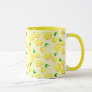 Caneca da campainha do amarelo da árvore de limão