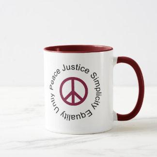 Caneca da caneca da paz