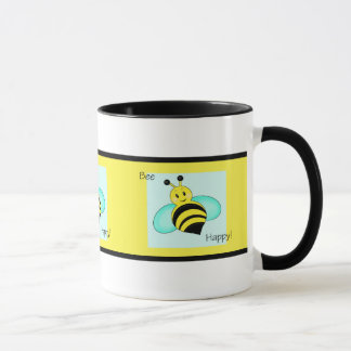 """Caneca Da """"caneca de café unida feliz abelha"""""""