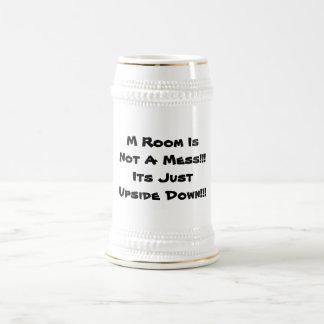 caneca da caneca de cerveja com uma mensagem