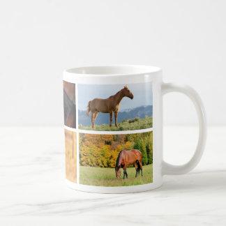 Caneca da colagem da foto do cavalo