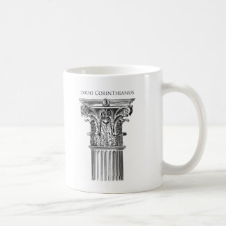 Caneca da coluna da ordem de Corinthian