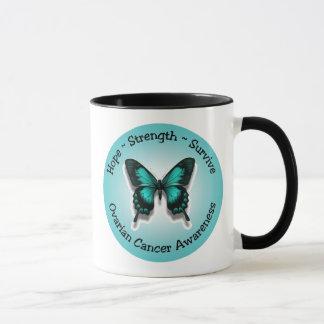Caneca da consciência do câncer de ovário