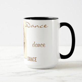Caneca da dança dos dançarinos de balé do vintage