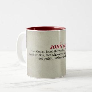 Caneca da escritura do 3:16 de John
