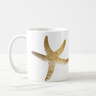 Caneca da estrela do mar do ouro