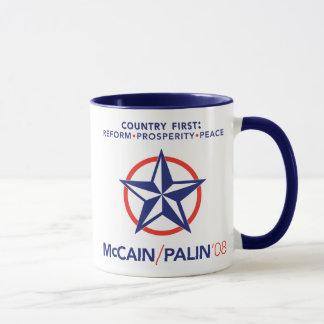 Caneca da estrela do país de McCain/Palin primeira