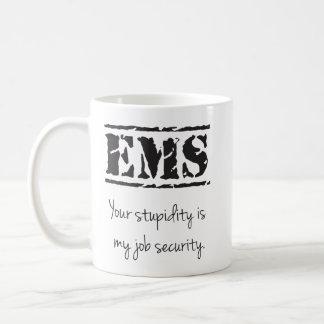 Caneca da estupidez/segurança profissional do EMS