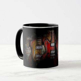 Caneca da febre da guitarra