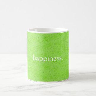 Caneca da felicidade, fundo abstrato