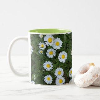 Caneca da flor da margarida