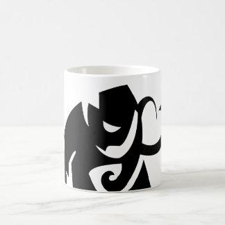 caneca da forma do vetor do elefante