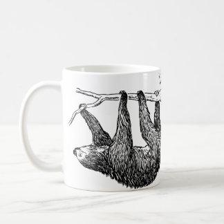 Caneca da ilustração da preguiça