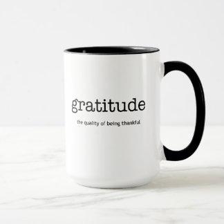 Caneca da inspiração da gratitude