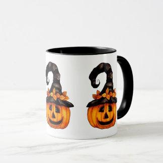 Caneca da Jack-o-Lanterna do Dia das Bruxas/outono