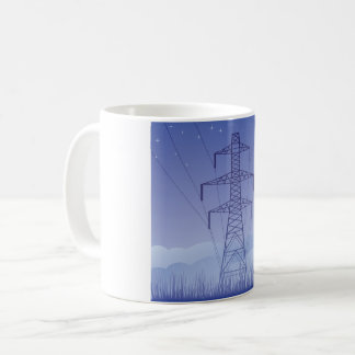 Caneca da linha eléctrica da torre