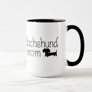 Caneca da mamã do Dachshund para amantes do cão do