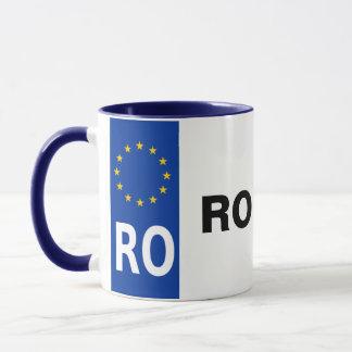 Caneca da matrícula de Romania