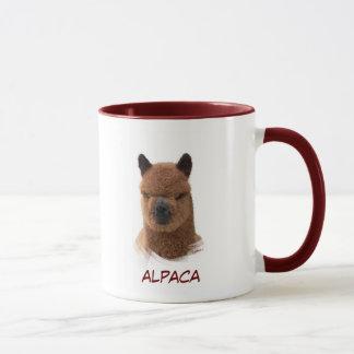 Caneca da menina do calendário da alpaca