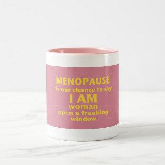 Caneca da menopausa