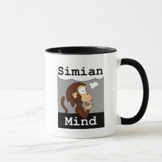 Caneca da mente do Simian