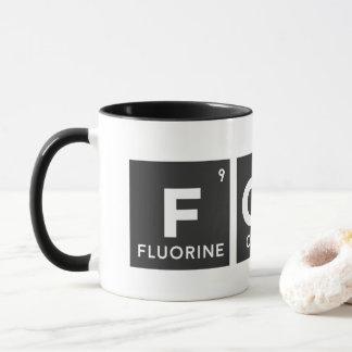 Caneca da mesa periódica de FCUK