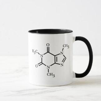 Caneca da molécula da cafeína