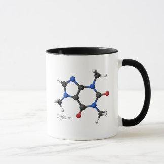 caneca da molécula da cafeína 3D