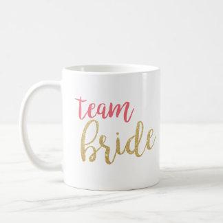 Caneca da noiva da equipe da faísca