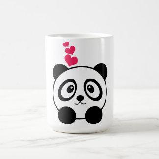 Caneca da panda do amor