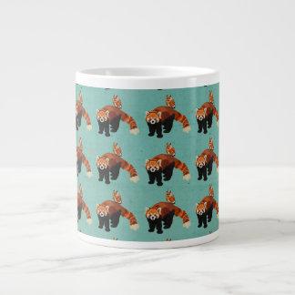 Caneca da panda vermelha & da coruja jumbo mug
