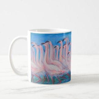 Caneca da pintura do rebanho do flamingo