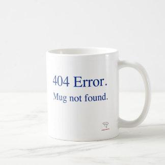 CANECA da planície do erro 404