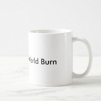 caneca da queimadura do mundo
