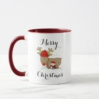 Caneca da rena do Natal