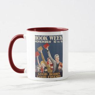 Caneca da semana de livro de 1940 crianças